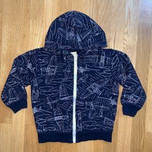 3/$10☀️ Gymboree airplane hoodie